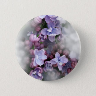 Lilac blooming 6 cm round badge