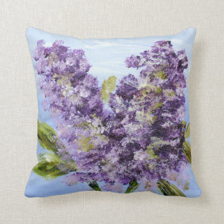 Lilac Blossoms Throw Pillow