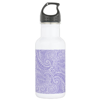 Lilac blue Floral twists 532 Ml Water Bottle