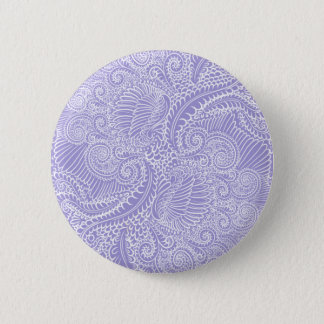 Lilac blue Floral twists 6 Cm Round Badge