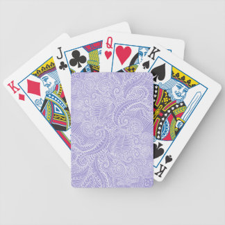 Lilac blue Floral twists Bicycle Playing Cards