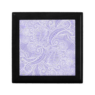 Lilac blue Floral twists Gift Box
