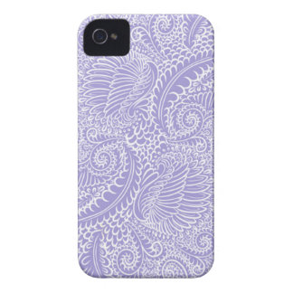 Lilac blue Floral twists iPhone 4 Case-Mate Cases