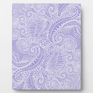 Lilac blue Floral twists Plaque