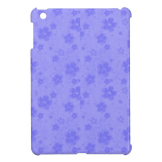 Lilac blue paper flowers case for the iPad mini
