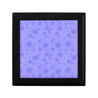 Lilac blue paper flowers gift box