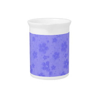 Lilac blue paper flowers pitcher