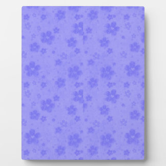Lilac blue paper flowers plaque