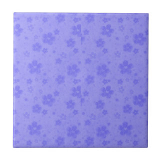 Lilac blue paper flowers tile