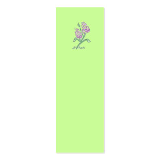 Lilac Bookmark Pack Of Skinny Business Cards