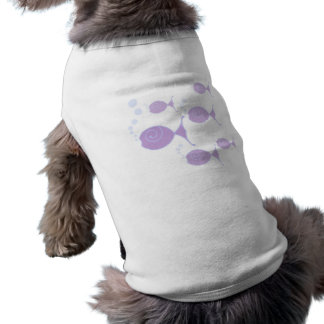 Lilac Bubble Fishes Doggie Shirt