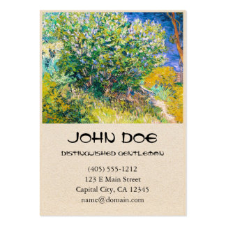 Lilac Bush by Vincent Van Gogh painting Business Card Templates