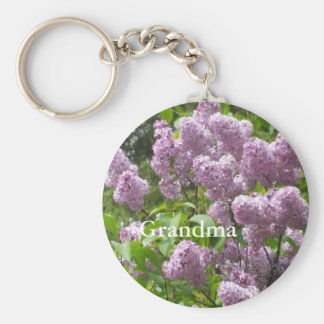 Lilac Bush for Grandma's Mother's Day Basic Round Button Key Ring