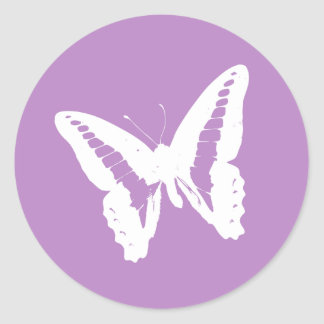 Lilac Butterfly Envelope Sticker Seal