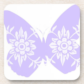 Lilac Butterfly Floral Coasters