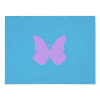 Lilac Butterfly Poster