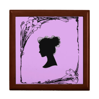 lilac cameo framed box