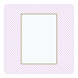 Lilac Candy Polkadot Hearts on White 13 Cm X 13 Cm Square Invitation Card