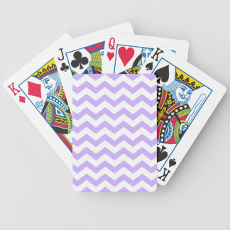 Lilac Chevron Bicycle Playing Cards