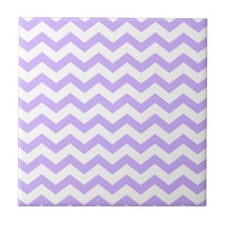 Lilac Chevron Ceramic Tile
