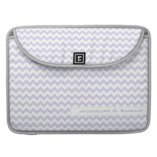 Lilac Chevron Rickshaw Flap Sleeve MacBook Pro Sleeve
