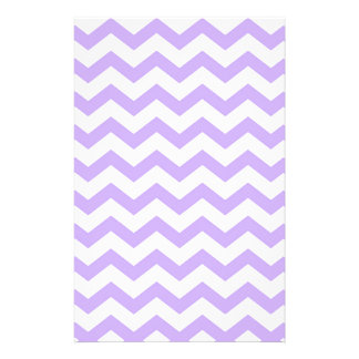 Lilac Chevron Stationery