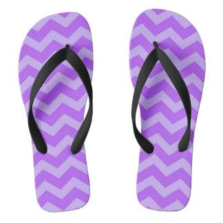 Lilac Chevron stripes Thongs