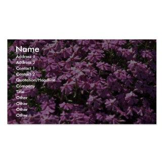 Lilac close-up business card templates