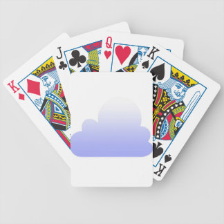 Lilac cloud pattern bicycle playing cards