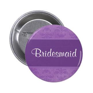 Lilac Damask 6 Cm Round Badge