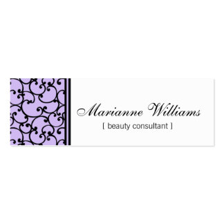 Lilac Damask Beauty Micro Mini Business Cards