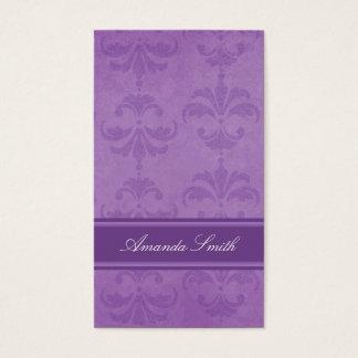 Lilac Damask Business Card
