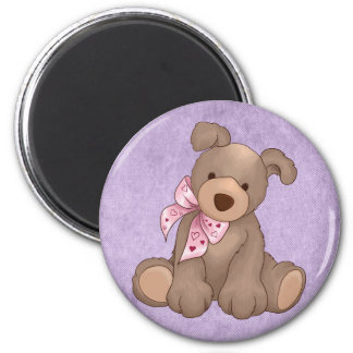 lilac denim and sweet teddy fridge magnets