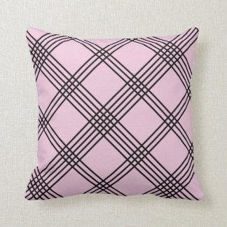 Lilac Diagonal Plaid American MoJo Pillo Pillows