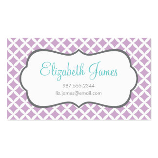 Lilac Diamonds Business Card Templates