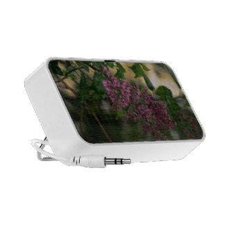 Lilac doodle laptop speakers