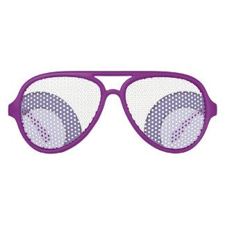 Lilac Dot Aviator Sunglasses