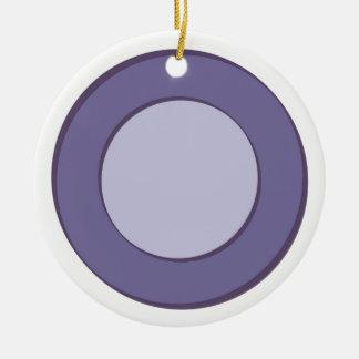 Lilac Dot Ceramic Ornament