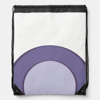 Lilac Dot Drawstring Bag