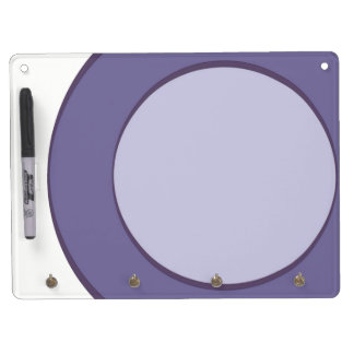 Lilac Dot Dry Erase Board With Key Ring Holder