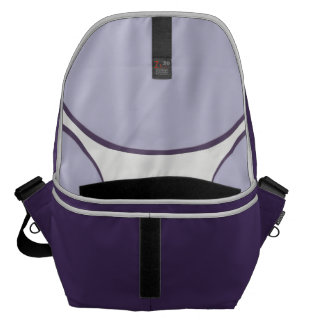 Lilac Dot Messenger Bag