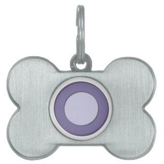 Lilac Dot Pet Name Tag