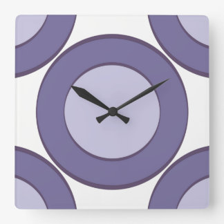 Lilac Dot Square Wall Clock