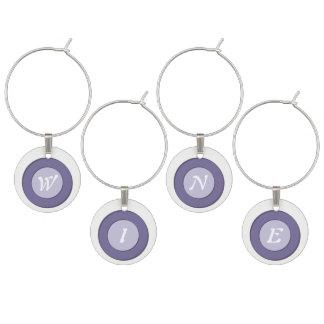 Lilac Dot Wine Charm