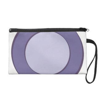 Lilac Dot Wristlet