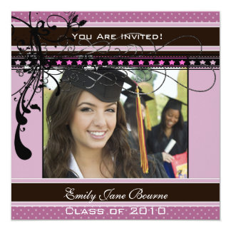 Lilac Dots & Swirls Senior Pictures Class of 2011 Card