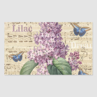 Lilac Dream Rectangular Sticker