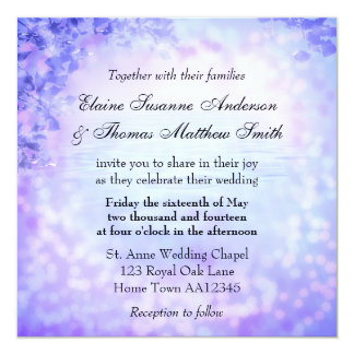 Lilac Dream Wedding Invitation