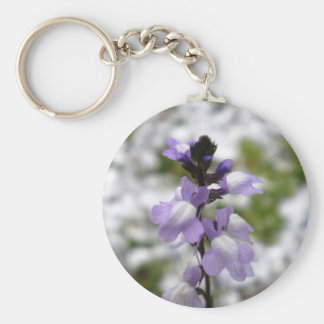 Lilac Dreams Basic Round Button Key Ring