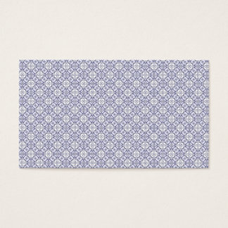 Lilac elegant vintage pattern business card